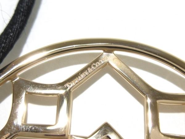 TIFFANY&Co.(ティファニー) ネックレス美品  マラケシュ K18PG×シルク 黒