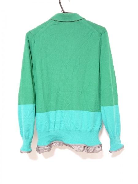 サカイ ジャケット サイズ1 S メンズ グリーン×ライトグリーン×グレー ニット