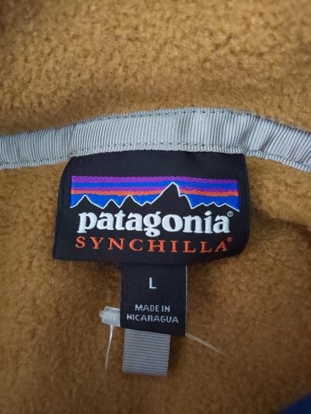 Patagonia(パタゴニア) ブルゾン サイズL メンズ ネイビー×ライトブラウン 冬物