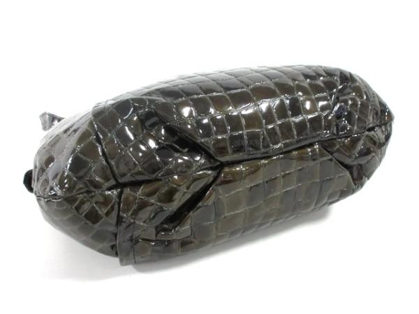 コッコフィオーレ ショルダーバッグ ダークグリーン 型押し加工 エナメル(レザー)