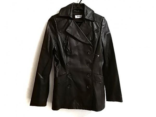 MORGAN(モルガン) コート レディース美品  黒 レザー/冬物