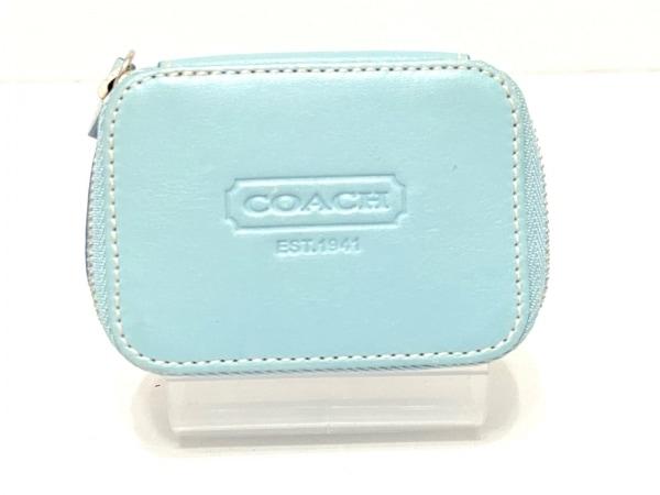 COACH(コーチ) ピルケース - ライトブルー レザー