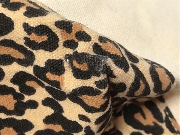 ユナイテッドアローズ トートバッグ アイボリー×マルチ 豹柄 キャンバス