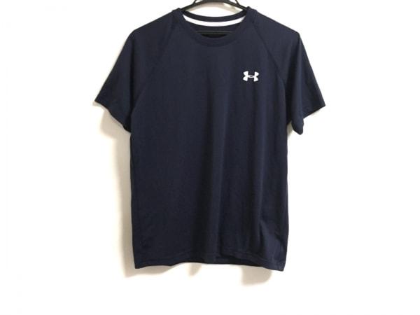 UNDER ARMOUR(アンダーアーマー) 半袖Tシャツ サイズSM メンズ ダークネイビー×白