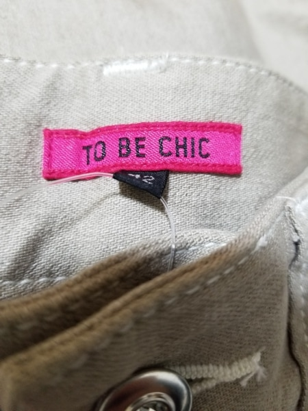 TO BE CHIC(トゥービーシック) ジーンズ サイズ42 L レディース グレージュ