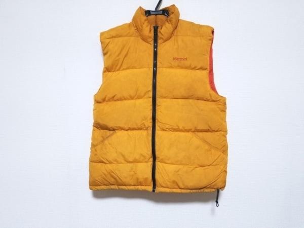 Marmot(マーモット) ダウンベスト サイズS メンズ レッド×オレンジ 冬物