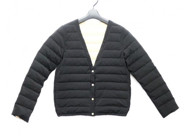 BEAMS(ビームス) ダウンジャケット サイズ36 S レディース 黒×ベージュ