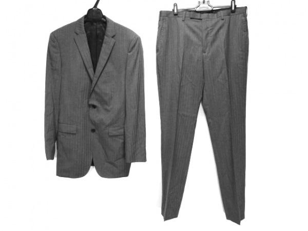 バーバリーブラックレーベル シングルスーツ サイズ40L メンズ グレー