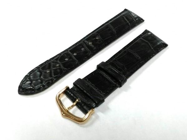 カルティエ 小物新品同様  KD18BK97 黒 腕時計用替えベルト/20mm クロコダイル