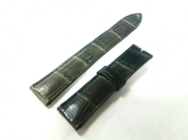 BREGUET(ブレゲ) 小物新品同様  グレー×黒 腕時計用替えベルト(バックルなし)/18mm