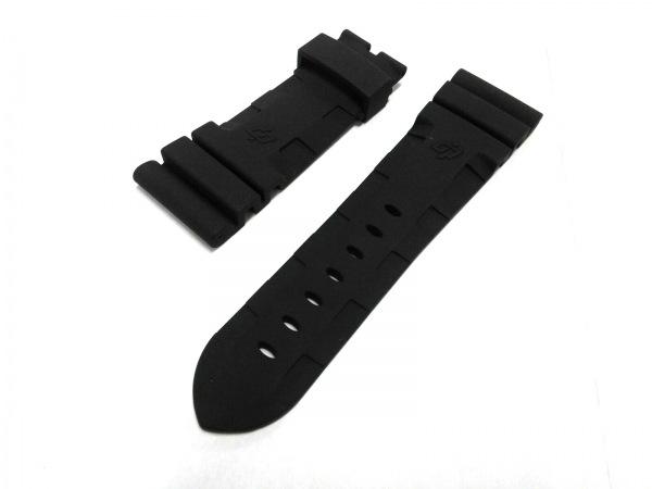 パネライ ベルト新品同様  黒 腕時計用替えベルト(バックルなし)/26mm ラバー