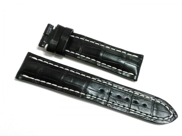 ブライトリング 小物新品同様  黒 腕時計用替えベルト(バックルなし)/22mm レザー