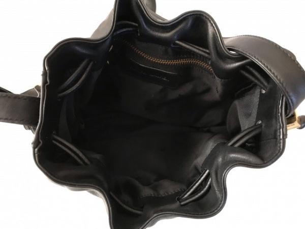 RalphLauren(ラルフローレン) ショルダーバッグ美品  黒 巾着型 レザー