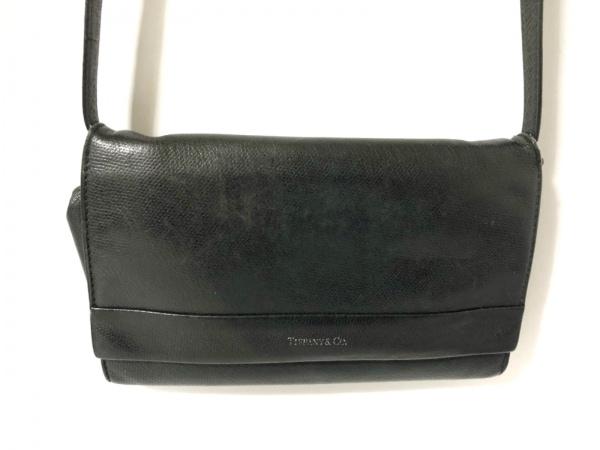 TIFFANY&Co.(ティファニー) ショルダーバッグ 黒 ストラップ取り外し可 レザー