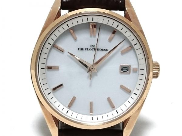 THE CLOCK HOUSE(ザクロックハウス) 腕時計 MBFMY1603 メンズ 型押し革ベルト 白