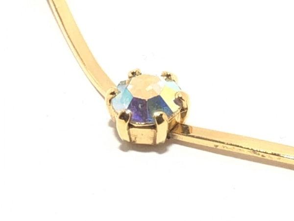 AGATHA(アガタ) ネックレス 金属素材×ラインストーン ゴールド×シルバー ビジュー