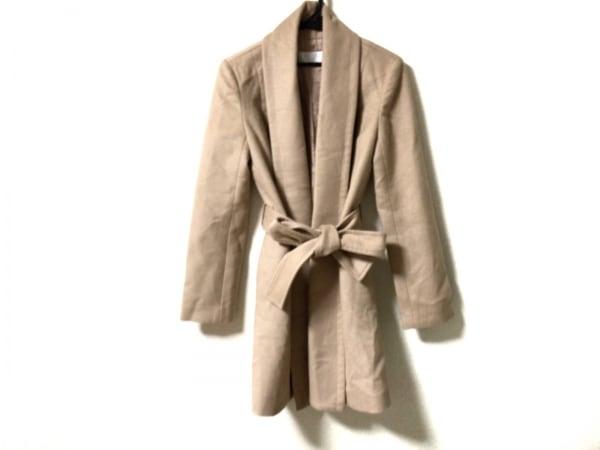 エムプルミエブラック コート サイズ36 S レディース美品  ベージュ 冬物