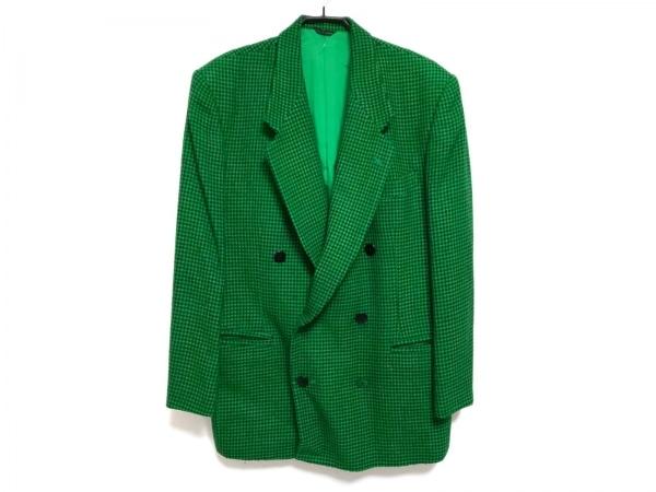 YOSHIYUKI KONISHI(ヨシユキコニシ) ジャケット サイズL メンズ グリーン×黒