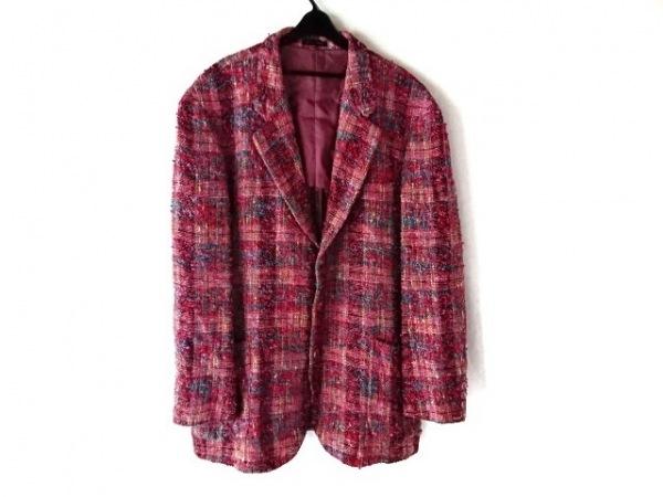 YOSHIYUKI KONISHI(ヨシユキコニシ) ジャケット サイズL メンズ ピンク×マルチ