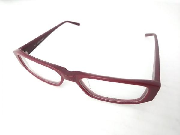 POLICE(ポリス) メガネ V1566J クリア×ボルドー ガラス×プラスチック