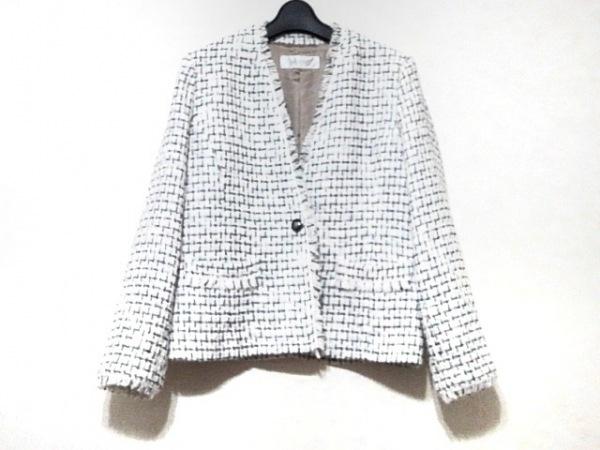 DoCLASSE(ドゥクラッセ) ジャケット サイズ11 M レディース新品同様  白×黒 ラメ