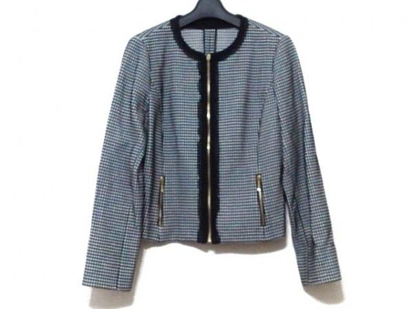 レリアン ブルゾン サイズ9 M レディース美品  黒×白 春・秋物/ジップアップ
