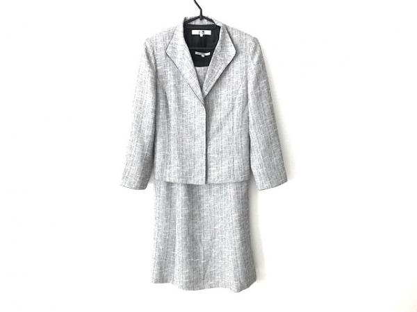 23区(ニジュウサンク) ワンピーススーツ サイズ40 M レディース 白×黒 ラメ