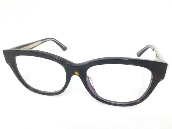 クリスチャンディオール メガネ 06F クリア×黒×パープル 度入り プラスチック