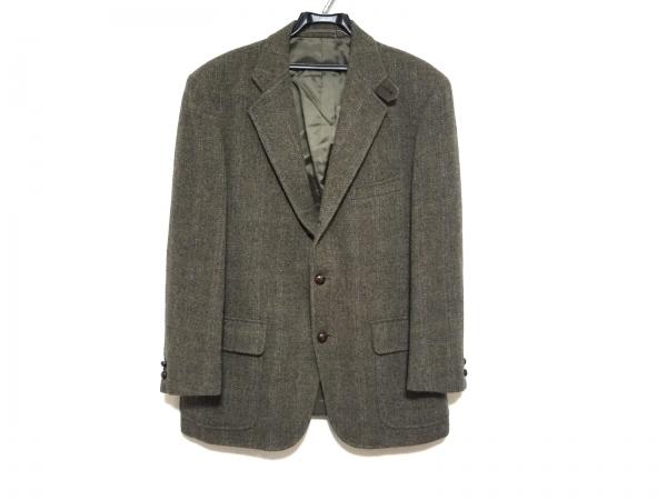 J.PRESS(ジェイプレス) ジャケット メンズ美品  ダークグリーン×ブラウン×マルチ