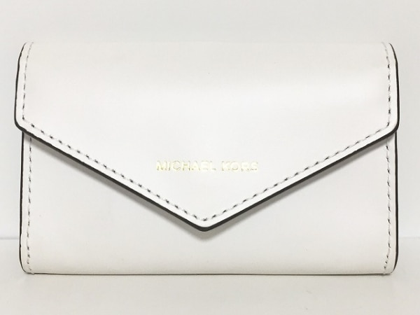 MICHAEL KORS(マイケルコース) カードケース 白×黒 レザー