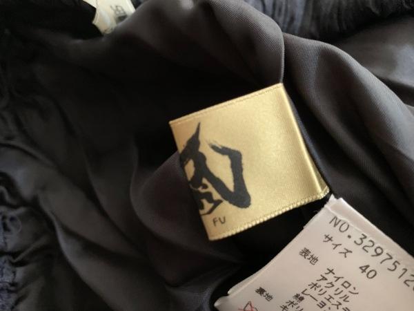 メフウ/センソユニコ バルーンスカート サイズ40 M レディース美品  黒×ライトグレー