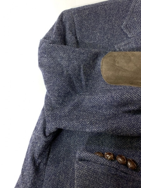 ポロラルフローレン ジャケット サイズ38 M メンズ ネイビー×ダークブラウン