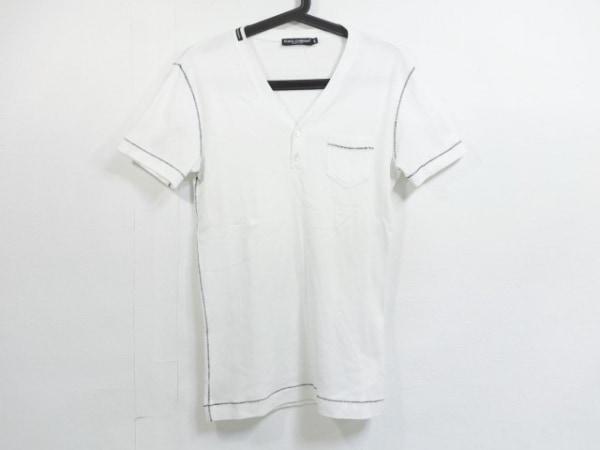 ドルチェアンドガッバーナ 半袖カットソー サイズ46 S メンズ美品  白×黒