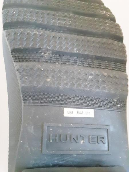 HUNTER(ハンター) レインブーツ 7 レディース 黒 サイドゴア ラバー