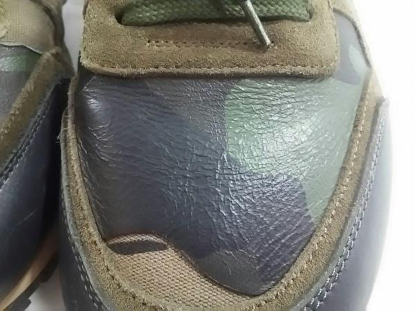 バレンチノガラバーニ スニーカー 42 メンズ カーキ×ベージュ×マルチ 迷彩柄