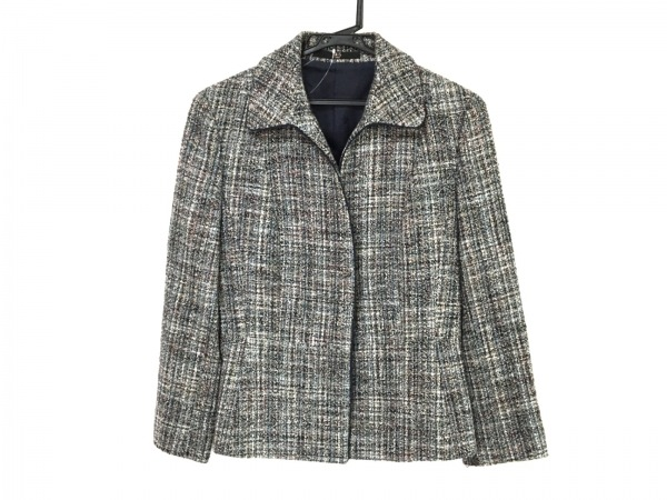 DAKS(ダックス) ジャケット レディース - - グレー×黒×マルチ 長袖/ツイード/秋/冬