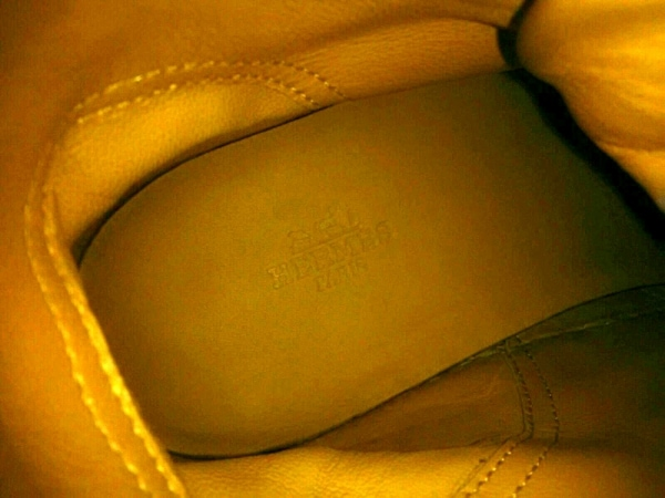 HERMES(エルメス) スニーカー 40 メンズ 白 ハイカット レザー