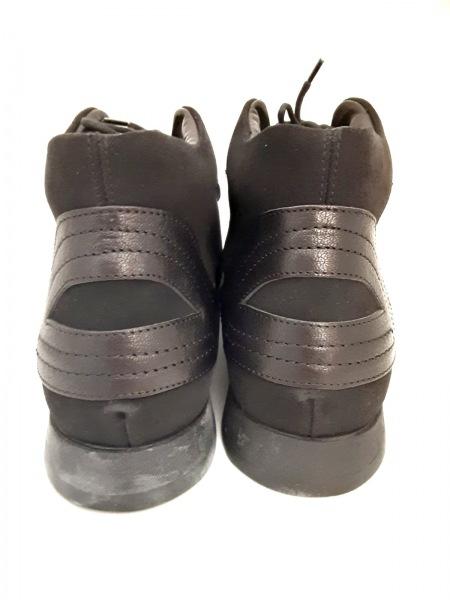 GIORGIOARMANI(ジョルジオアルマーニ) スニーカー メンズ美品  黒 スエード×レザー