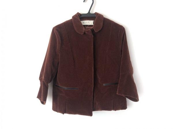 MARNI(マルニ) ジャケット サイズ40 M レディース美品  ブラウン コーデュロイ