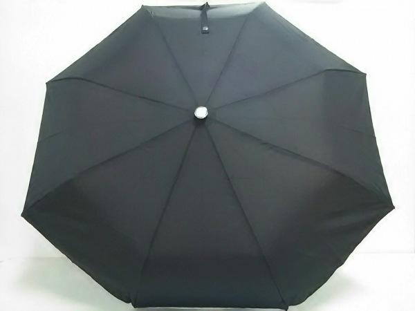アクリス 折りたたみ傘美品  ダークグレーブラウン ドット柄 ナイロン×金属素材
