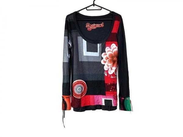 Desigual(デシグアル) 長袖Tシャツ サイズL レディース ダークグレー×グレー×マルチ