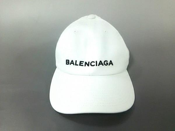 BALENCIAGA(バレンシアガ) キャップ美品  白 コットン