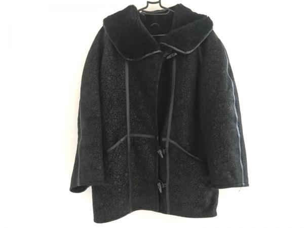 shearling(シャーリング) コート サイズ40 M メンズ 黒 冬物/ムートン
