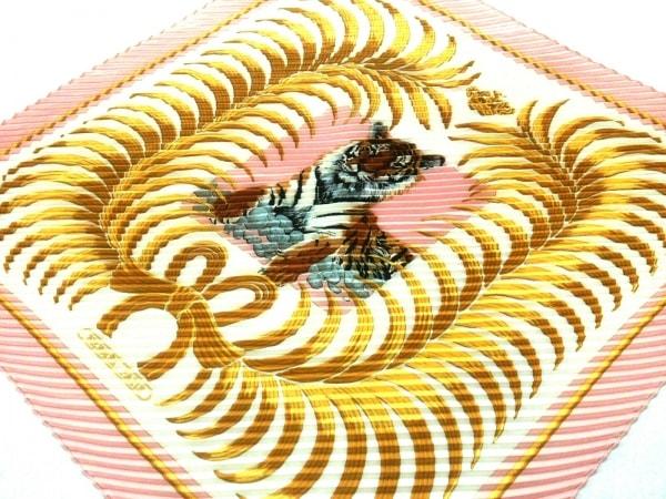 HERMES(エルメス) スカーフ美品  カレプリセ 白×ピンク×ゴールド