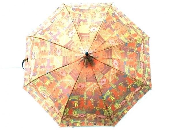 ヴィヴィアンウエストウッド 日傘美品  オレンジ×パープル×マルチ