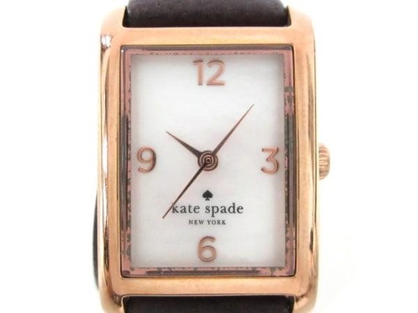 Kate spade(ケイト) 腕時計 0083 レディース シェル文字盤/革ベルト 白