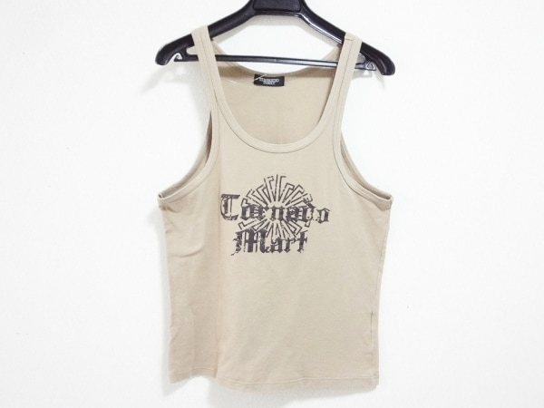 TORNADO MART(トルネードマート) タンクトップ メンズ ベージュ×黒