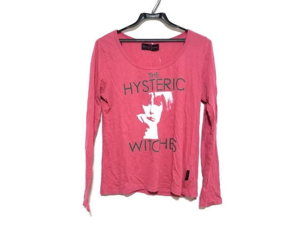 ヒステリックグラマー 長袖Tシャツ サイズF レディース美品  ピンク×白×グリーン