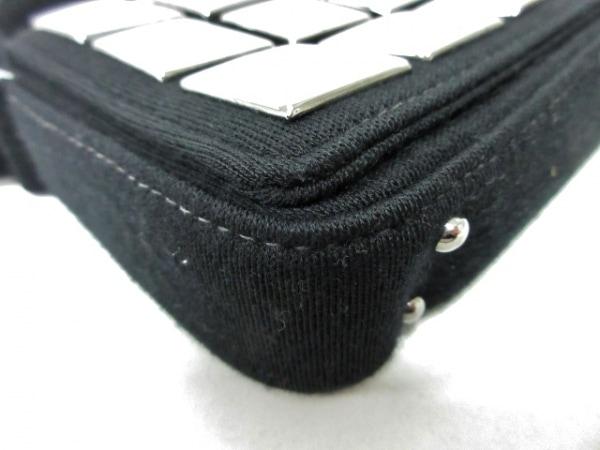 シャネル ハンドバッグ アイスキューブ 黒×シルバー スタッズ コットンジャージー