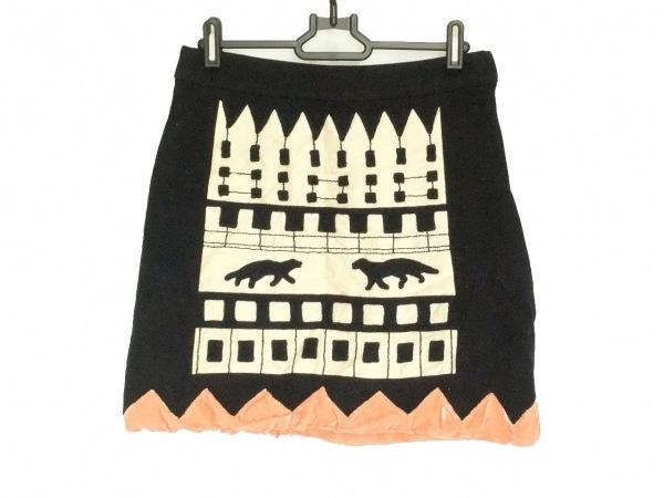 TSUMORI CHISATO(ツモリチサト) ミニスカート サイズ2 M レディース 黒×ベージュ